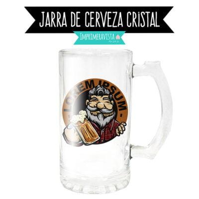 jarra de cerveza de cristal esmerilado personalizada