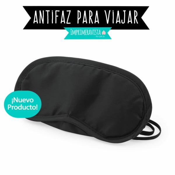 Antifaz de tela suave negro para dormir