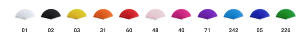 abanicos de colores para invitadas, despedidas de soltera, bodas y fiestas