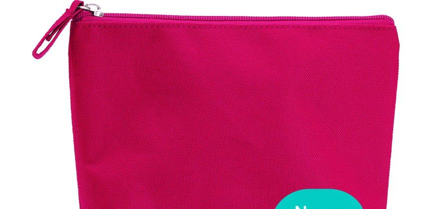 neceser grande de color rosa para regalar a juego con otros regalos personalizados