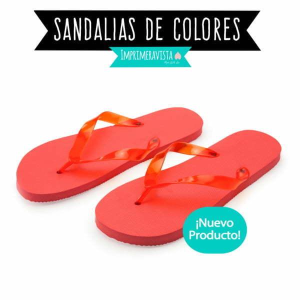 sandalias de colores ideales para regalar en kits de supervivencia, fiestas y bodas, puedes elegir un color a juego con otros regalos