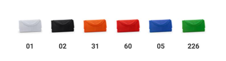 bolsa de compra plegable de colores