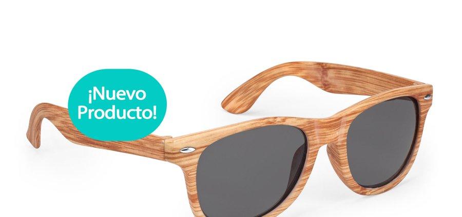 Gafas de sol homologadas con estampado color madera