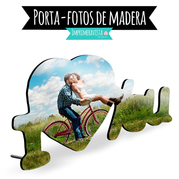 porta fotos i love you