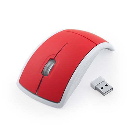 Ratón inalámbrico rojo
