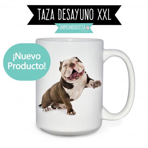 taza jarra de desayuno xxl personalizada