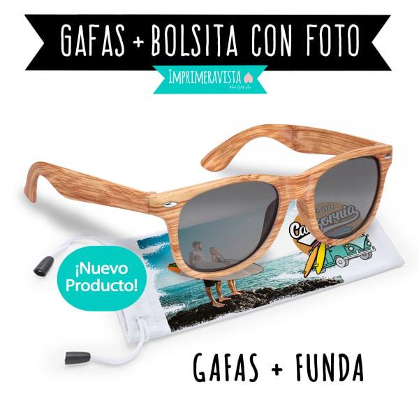 gafas de sol con funda personalizada
