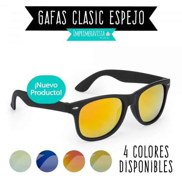 gafas estilo clásico con espejo