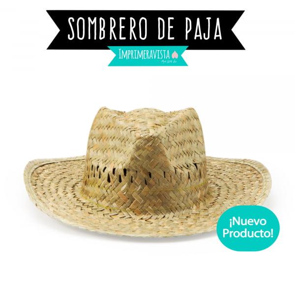 sombrero de paja en color crudo tostado