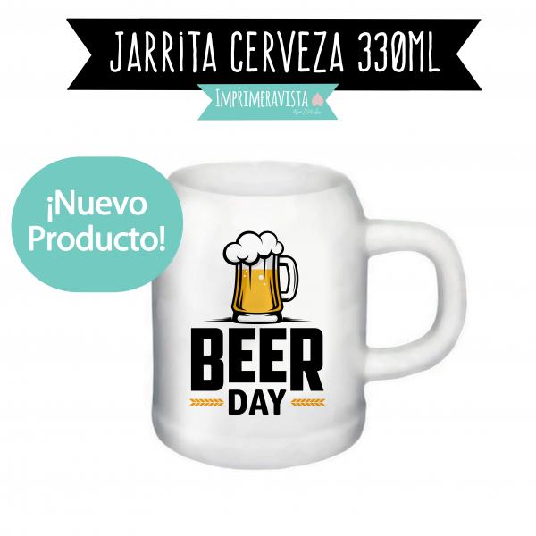 Jarrita de cerveza de cerámica en alta calidad con textura artesanal personalizada